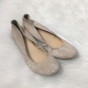 J. Crew Cream Suede Cece Ballet Flats Shoes